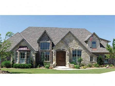 european country house plans stone enhanced european design hwbdo66057 french country