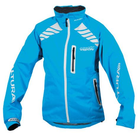 blue cycling jacket wiggle altura women s night vision evo jacket cycling