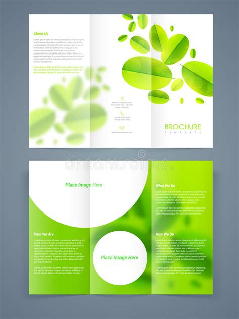 brochure template nature save ecology brochure template or flyer design stock
