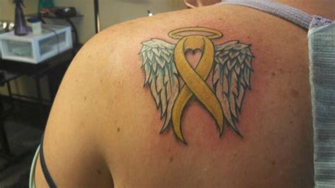 suicide memorial tattoos ribbon designs www imgkid the image