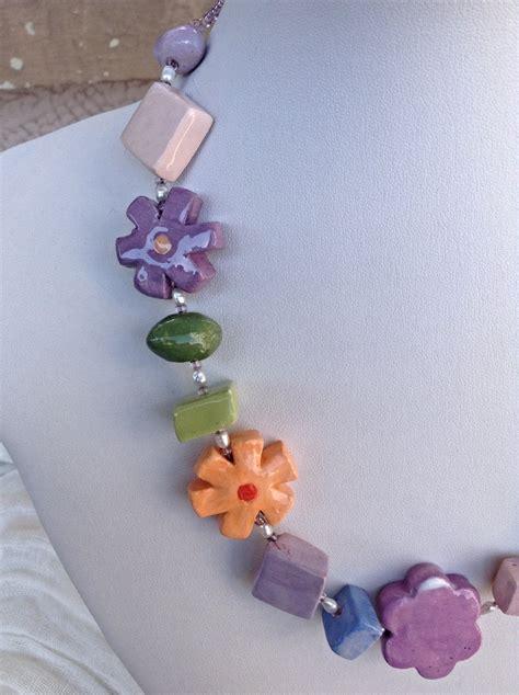 collane di fiori collana girocollo in ceramica fiori di primavera