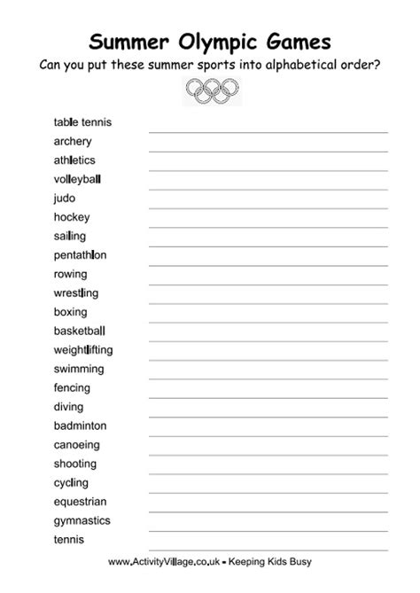 printable abc order 11 best images of printable abc order worksheets abc