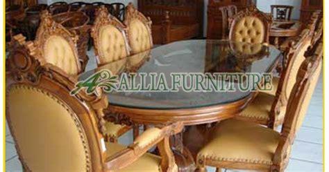 Meja Makan Ganesa meja kursi makan jati ukiran ganesa allia furniture