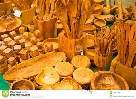 Handcrafted Marketplace - handcrafted kitchen utensils stock image image 35685781