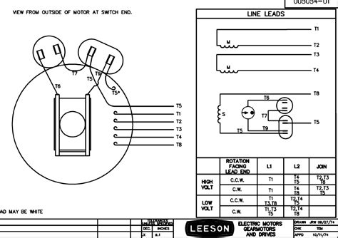 leeson motor wiring schematic baldor three phase diagram