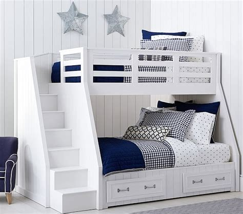 pottery barn bunk beds belden twin over full stair loft bed pottery barn kids