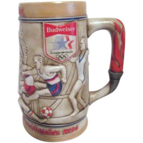 Budweiser L by 1984 L A Olympics Budweiser Stein From