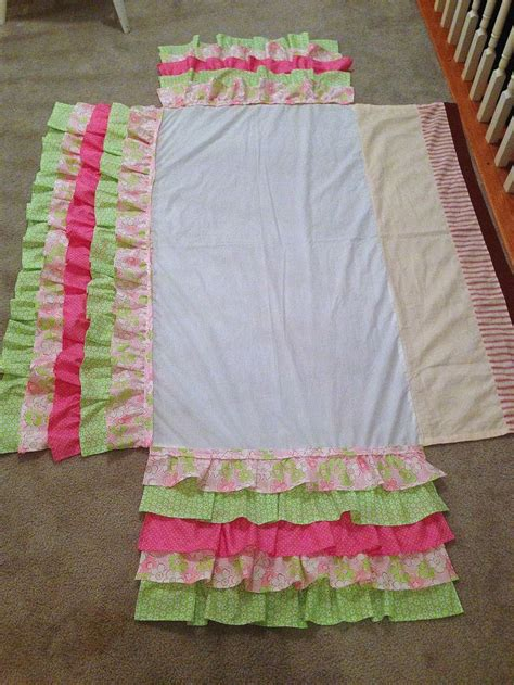 Ruffle Crib Skirt Tutorial by A Bolt Of Diy Ruffled Crib Skirt Random