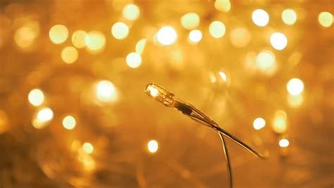 warm yellow christmas decorative glittering lights with