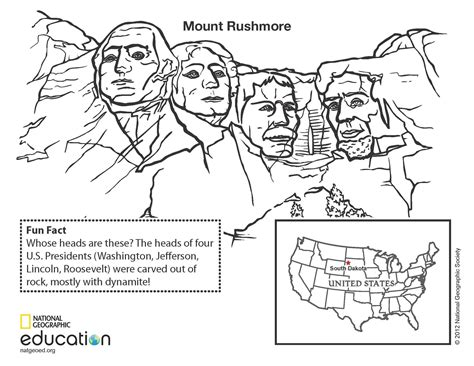 coloring page for mount rushmore free coloring pages of mount rushmore