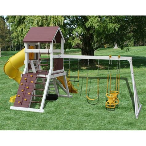 amish built swing sets amish made vinyl clad olympic jumper swing set