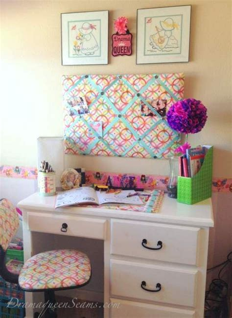 Desk Decor Diy These Diy Desk Accessories Message Board Blotter And Desk Chair Were All Made Using