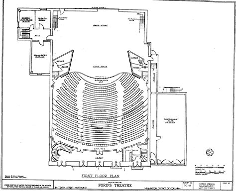 theater floor plan route of escape from ford s theater