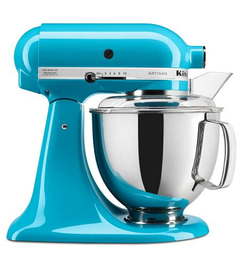 kitchenaid mixer artisan 174 series 5 quart tilt head stand mixer ksm150pscl crystal blue kitchenaid
