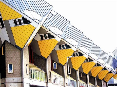 rotterdam cube houses  stilts  photo  pixabay