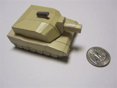 How To Make A Tank Out Of Paper - tiny paper tank of all trades