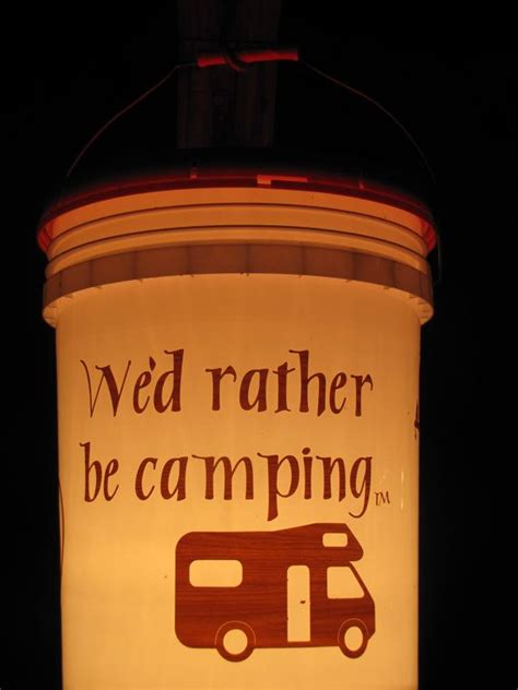 camping bucket light wed   camping
