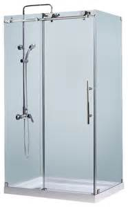 enigma x fully frameless sliding shower enclosure 32 1 2