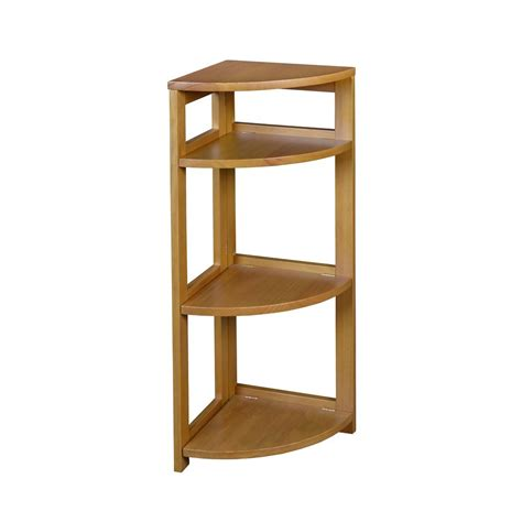 3 Shelf Corner Bookcase Home Decorators Collection 4 Shelf Corner Bookcase In Finish H 94 The Home Depot