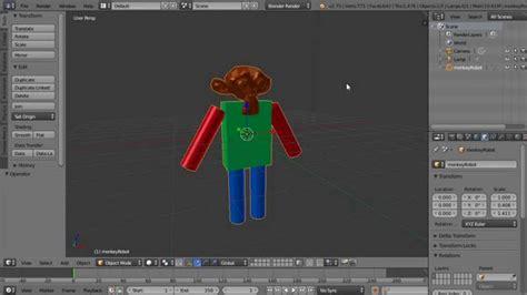 blender 3d robot tutorial blender beginners tutorial making a monkey robot new