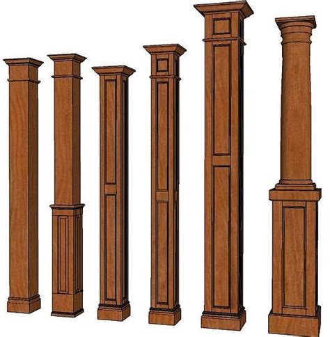 Pillars For Home Decor by Square Columns Interior Wood Columns Decorative