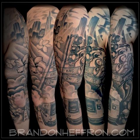 sf tattoo designs san francisco sleeve by brandon heffron tattoonow