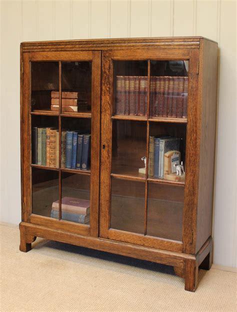 Oak Glazed Bookcase oak glazed bookcase 370750 sellingantiques co uk
