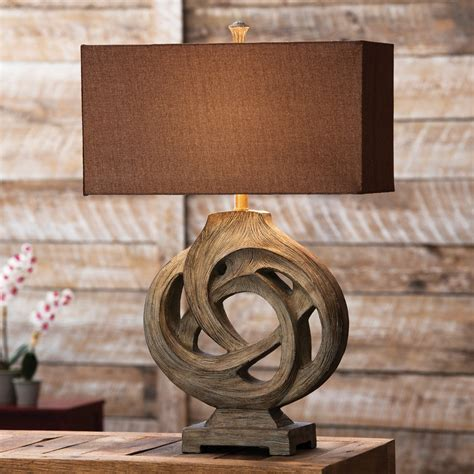 Rustic table lamps infinity branch table lamp black forest decor