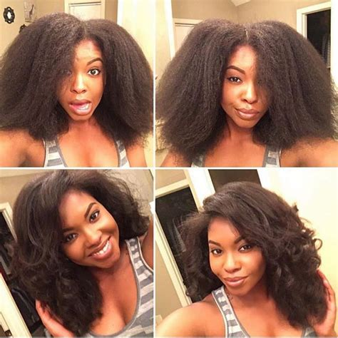 hairstyles for blow dried african american hair dry braid out on the kinky straight texture
