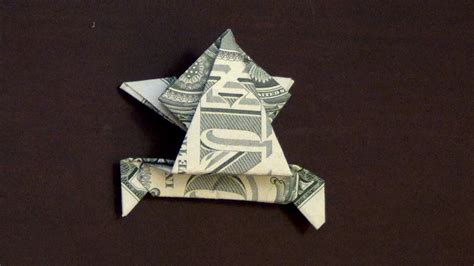dollar origami frog dollar origami jumping frog how to make a dollar frog
