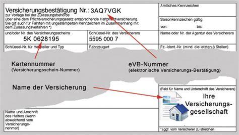 Online Kfz Versicherung Doppelkarte by Evb Karte Creactie