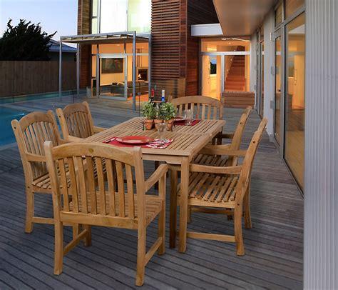 Honohulu Set amazonia honolulu 7 teak rectangular patio dining set