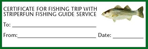 fishing gift certificate template gift certificates striperfun fishing guide service