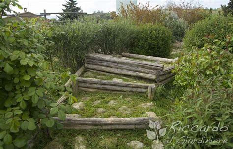 scala da giardino scala con alzata in legno e pedata con pietre riccardo