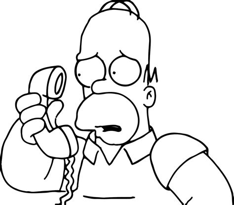 free coloring pages of homer marge
