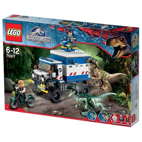 Frame Lego Jurassic World lego jurassic world raptor rage 75917 toys thehut