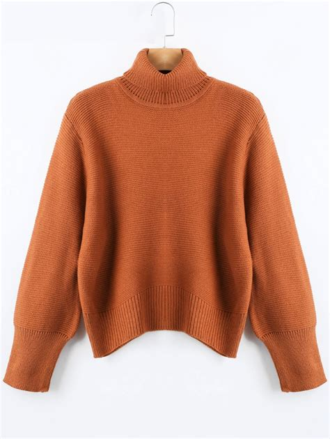 Sweater And sweaters cardigans brown one size turtleneck oversized