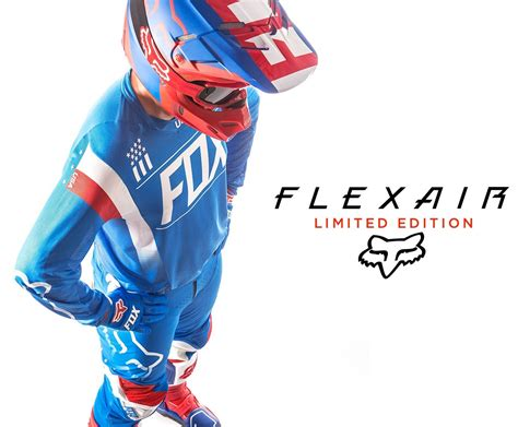 motocross gloves usa fox racing new 2016 mx le flexair mxon usa blue red
