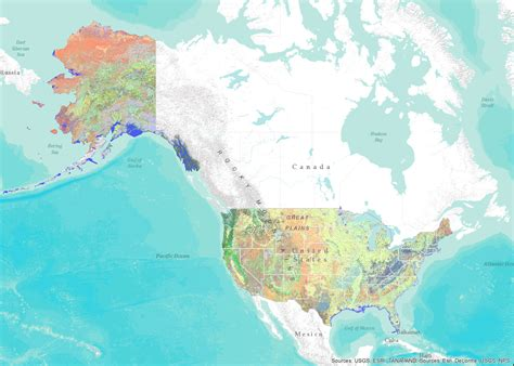 pin including  united states  canada shows variety  land  pinterest