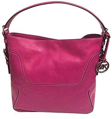 Michael Kors Pink Fuschia michael kors brookville large fuschia pink leather shoulder bag handbags