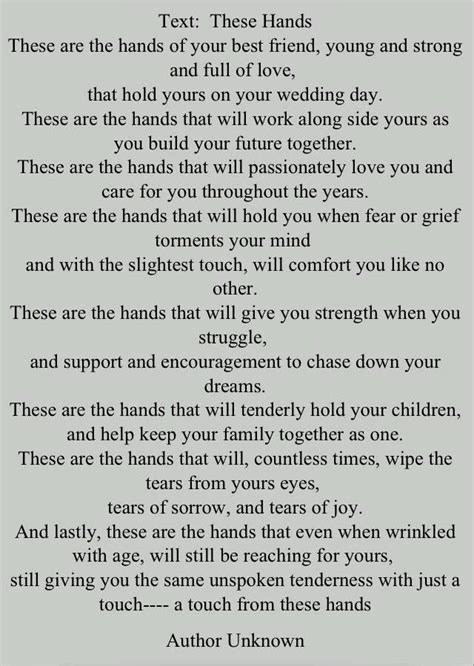 These hands poem   Soon to be Mrs. J    Best wedding
