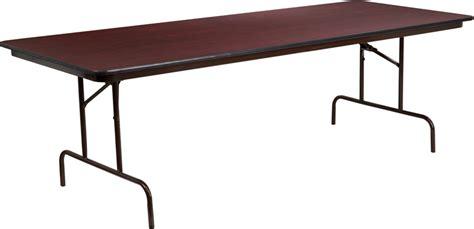 36 X 96 Plastic Folding Table by 36 X 96 Rectangular Mahogany Melamine Laminate Folding