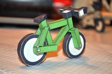 How To Make Paper Cycle - paperbikes v1 1 xc mtb mountain paper bike papercraft
