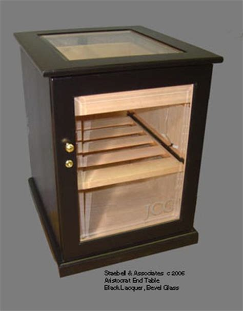 Aristocrat Cabinet Humidor Options End Table With Glass Door