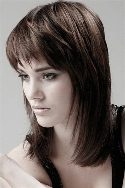 Medium Hairstyles With Bangs Layered by Medium Layered Haircuts With Bangs 2016