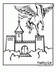 unicorn castle coloring page unicorn pegasus coloring pages woo jr kids activities