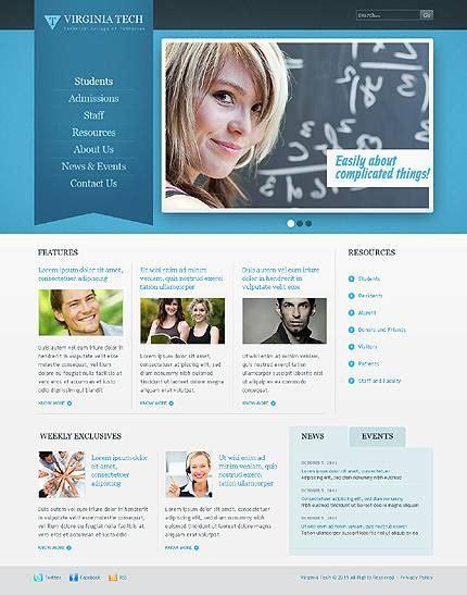 templates for educational website educational website design templates www pixshark com