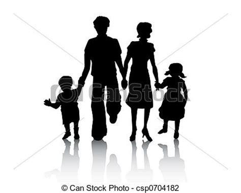 clipart famiglia percorso ritaglio silhouette famiglia