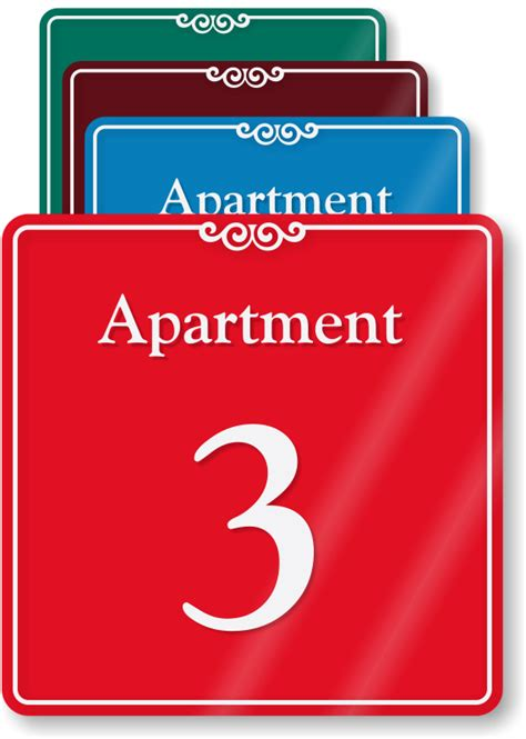 appartment number apartment number 3 showcase wall sign sku se 6175 3