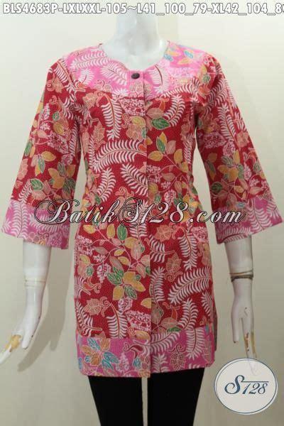 desain baju batik yang modis baju blus batik modis kwalitas halus untuk penilan